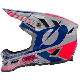 O'Neal Blade Polyacrylite Kask Ace, gray/blue/red